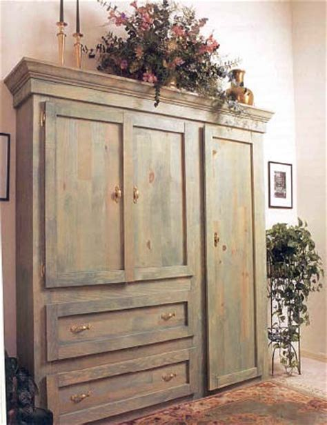 rustic wood armoire rustic armoire wood furniture plan immediate download