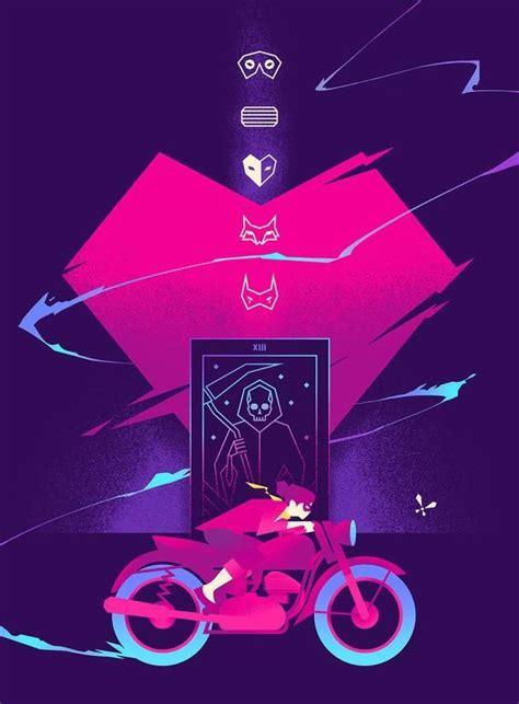 sayonara wild hearts art print game poster   heart