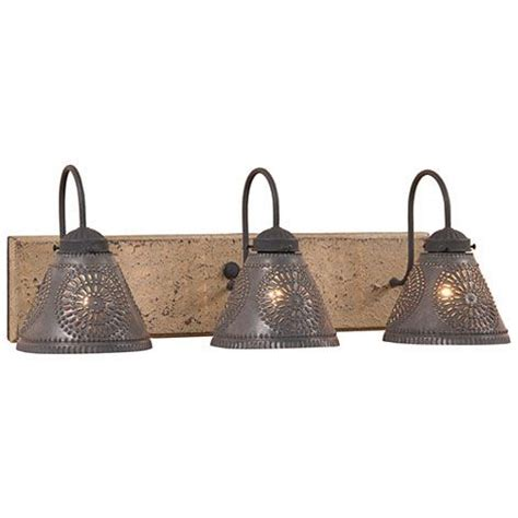 Primitive Vanity Lights Crestwood Vanity Light By Irvin S Country Tinware Primitive Bathroom Lighting