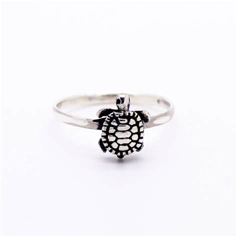 turtle sterling silver ring imsmistyle