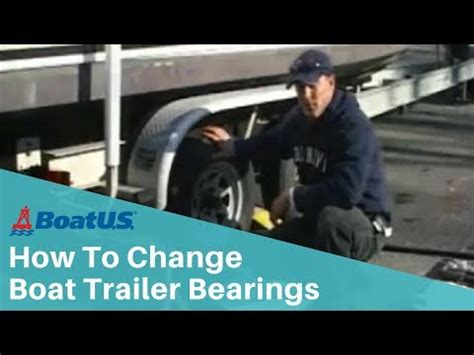 how to change wheel bearings on a boat trailer changing boat trailer bearings youtube
