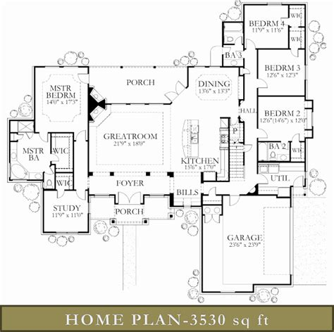 4000 sq ft floor plans 4000 square feet house plans home deco plans