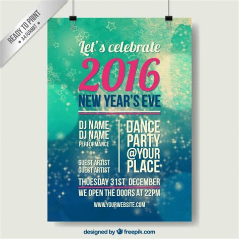new year poster abstract new year poster vector free