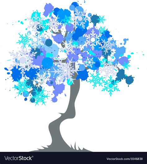 abstract vector winter tree design winter abstract tree royalty free vector image
