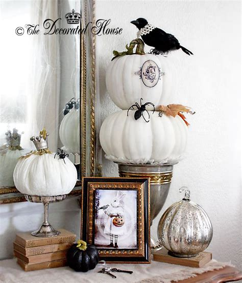 elegant halloween home decor elegant fall pumpkins on pinterest white pumpkins