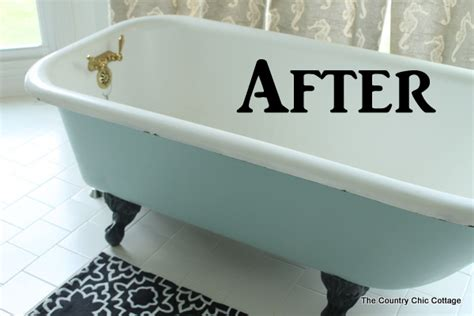 Tub Paint Painting A Claw Foot Tub The Country Chic Cottage