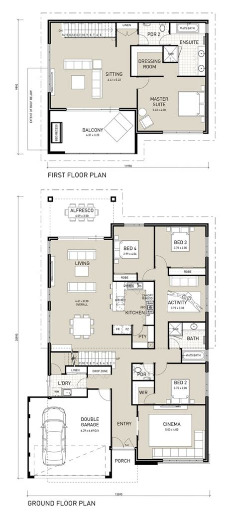 floor plan friday two storey four bedroom with