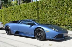 Blue Lamborghini Murcielago For Sale Ad Personam Matte Blue 2009 Lamborghini
