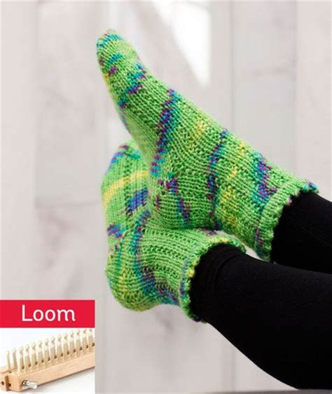 socks loom pattern free pattern loom knit and weights on pinterest