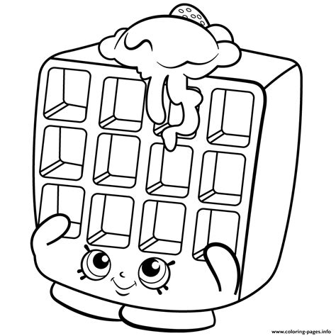waffle house coloring page waffle sue shopkins season 2 coloring pages printable