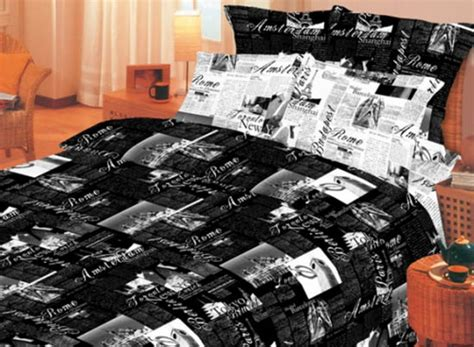 newspaper themed room brown gray and black bedding sets neutral bedroom colors