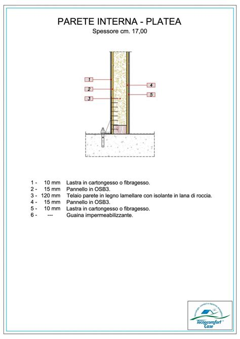 parete interna in legno particolari costruttivi tecnologia a telaio tecnocomfort