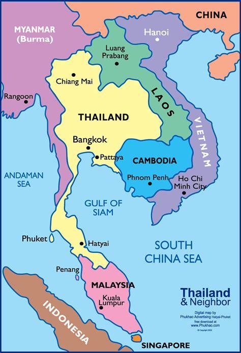map of thailand country missmckinnonsmidzone thailand