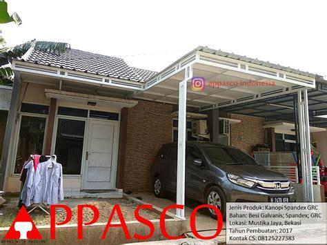 Kanopi Minimalis Spandek GRC di Mustika Jaya Bekasi   Jual