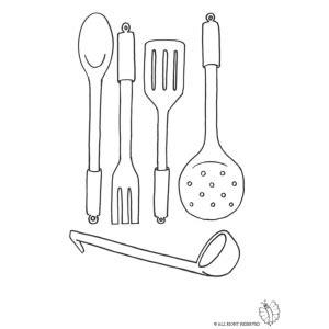 cucina da colorare disegno di cucinare da colorare per bambini gratis