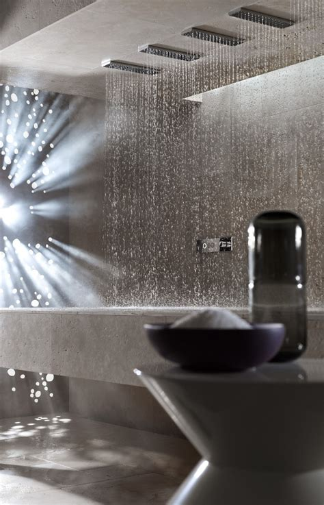 Horizontal Shower by Horizontal Shower Expands The Showering Experience With