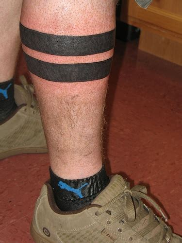 calf band tattoo 28 calf band leg tattoos for ideas and