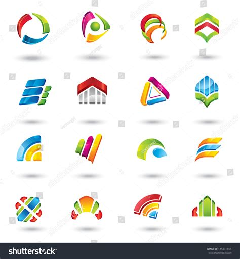 design elements icon design elements collection icons abstract logo stock