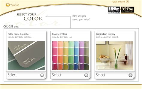 behr paint color selection tool 123paintcolor