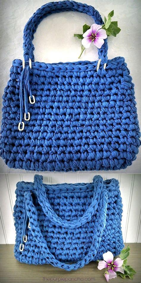 Handmade Bags Patterns - awesome handmade crocheted bag patterns 1001 crochet