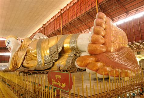 Reclining Buddha Myanmar chauk htat gyi reclining buddha image yangon myanmar