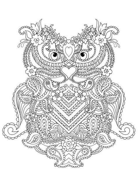 abstract owl coloring page coloring pages for adults abstract