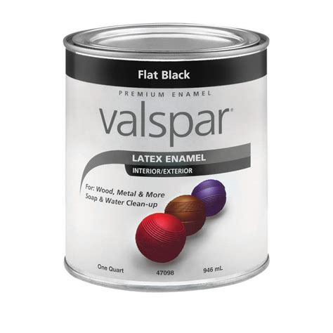 shop valspar flat black flat enamel interior exterior paint actual net contents 32 fl oz