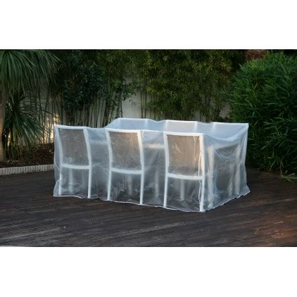 bache de protection salon de jardin housse de protection bache pour salon ou table de jardin transparente