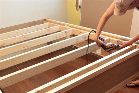 Bed Frames Diy Wood How To Make A Wood Bed Frame