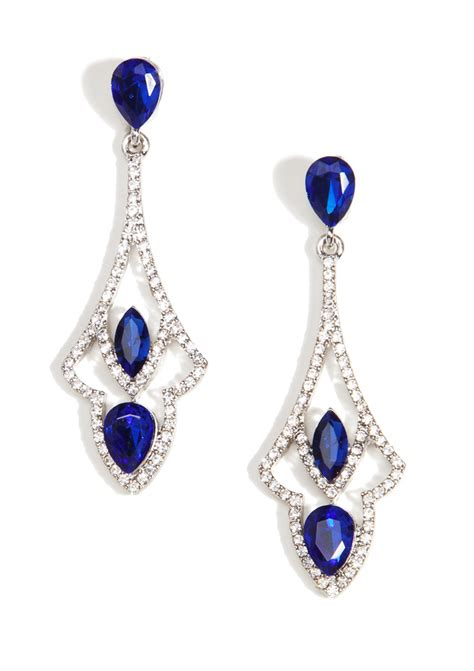 blue chandelier earrings glamorous sapphire chandelier earrings happiness boutique