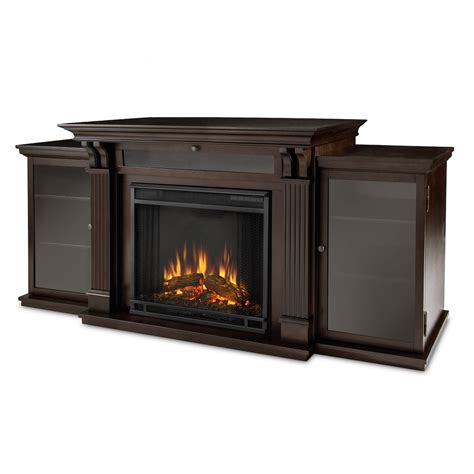 Entertainment Center With Electric Fireplace Real Entertainment Center Electric Fireplace In Walnut