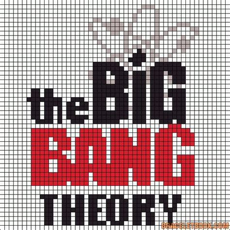 big perler bead patterns the big theory perler bead pattern beadpaterns
