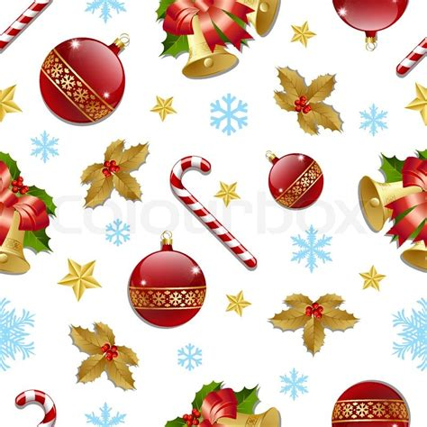 christmas pattern white background seamless christmas pattern on white background stock