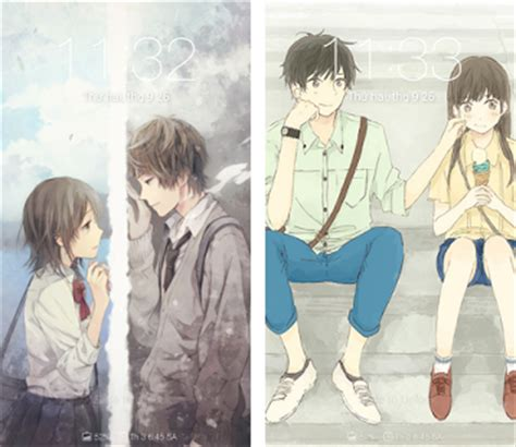 wallpaper sweet couple anime anime couple cute wallpapers apk download latest version 1