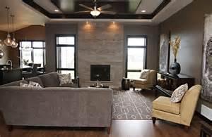 decoration salon moderne gris deco moderne