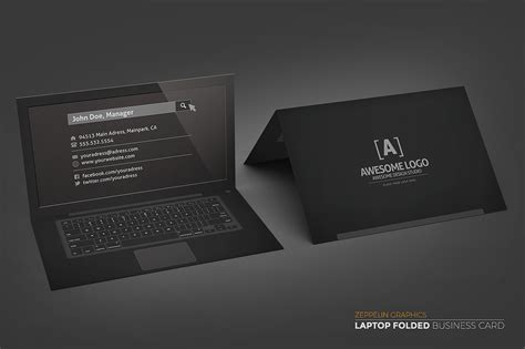 laptop business card template free laptop business card black edition business card