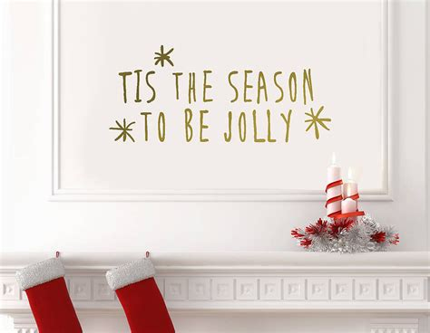 gold wall stickers gold tis the season wall sticker contemporary wall stickers