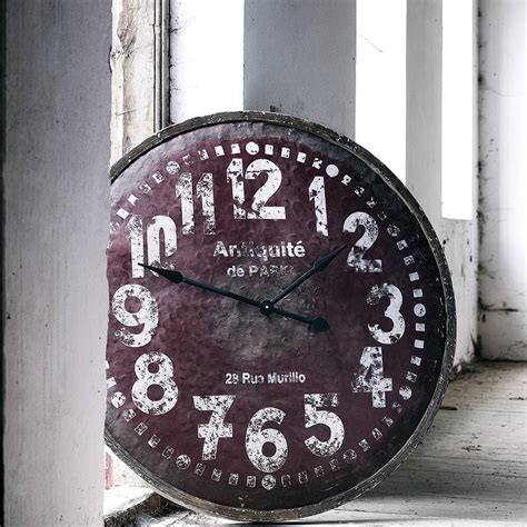 large wooden wall clock by nordal by bell blue notonthehighstreet