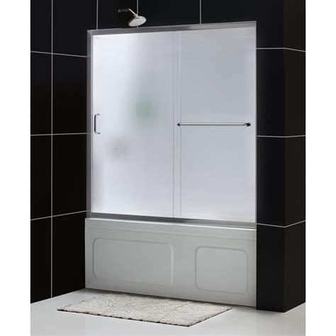 Infinity Shower Door Dreamline Infinity Z 60 In X 60 In Framed Sliding Tub Shower Door In Brushed Nickel And