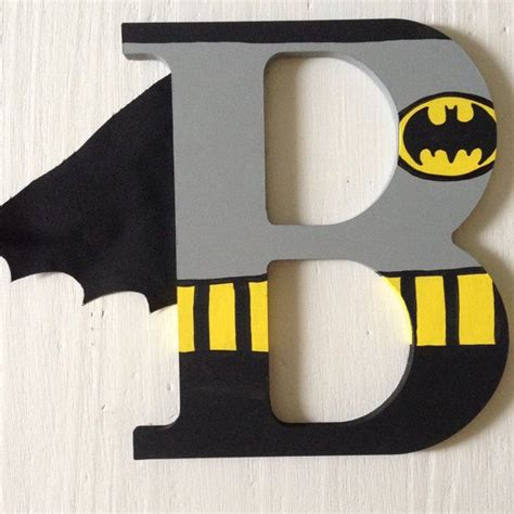 Letter Batman Wooden Letters Wall Decorative Ironman Batman Superman Wolverine Thor Aquaman