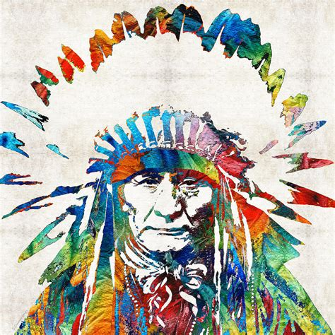 american indian painting american chief by painting