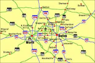 map showing the location of dallas fort worth