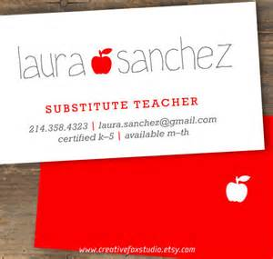 substitute business cards business cards for teachers 48 free psd format