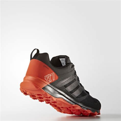 waterproof athletic shoes adidas kanadia 7 mens orange black tex waterproof