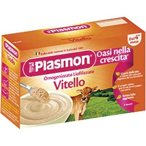 alimenti per bambini olio di palma plasmon liofilizzato vitello