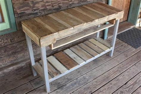 Bar Stools Kitchen Island Diy Distressed Pallet Console Table 101 Pallets