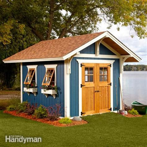 diy backyard sheds shed plans storage shed plans the family handyman