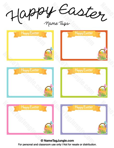 printable happy easter name tags