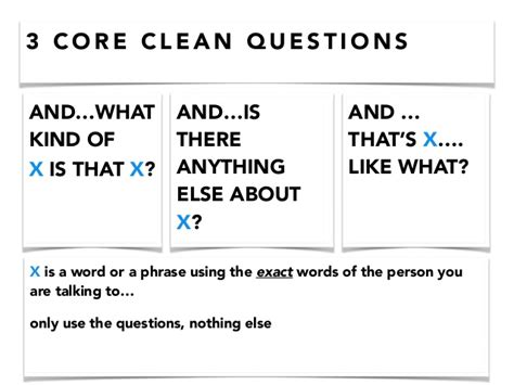 Or Questions Clean And Clean Language Clean Listening Agile2014