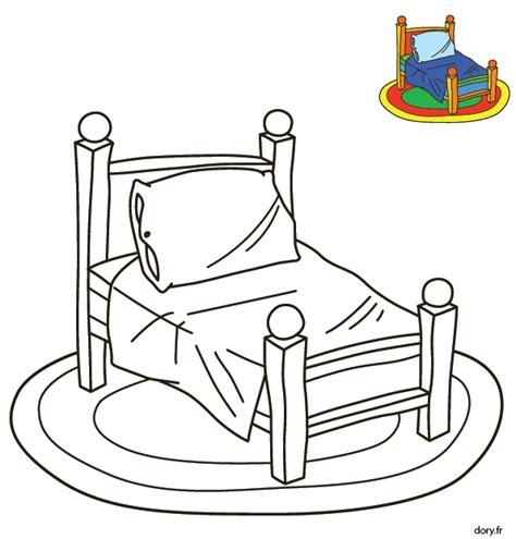Coloriage Pour Les Tout Petits Un Lit Dory Fr Coloriages